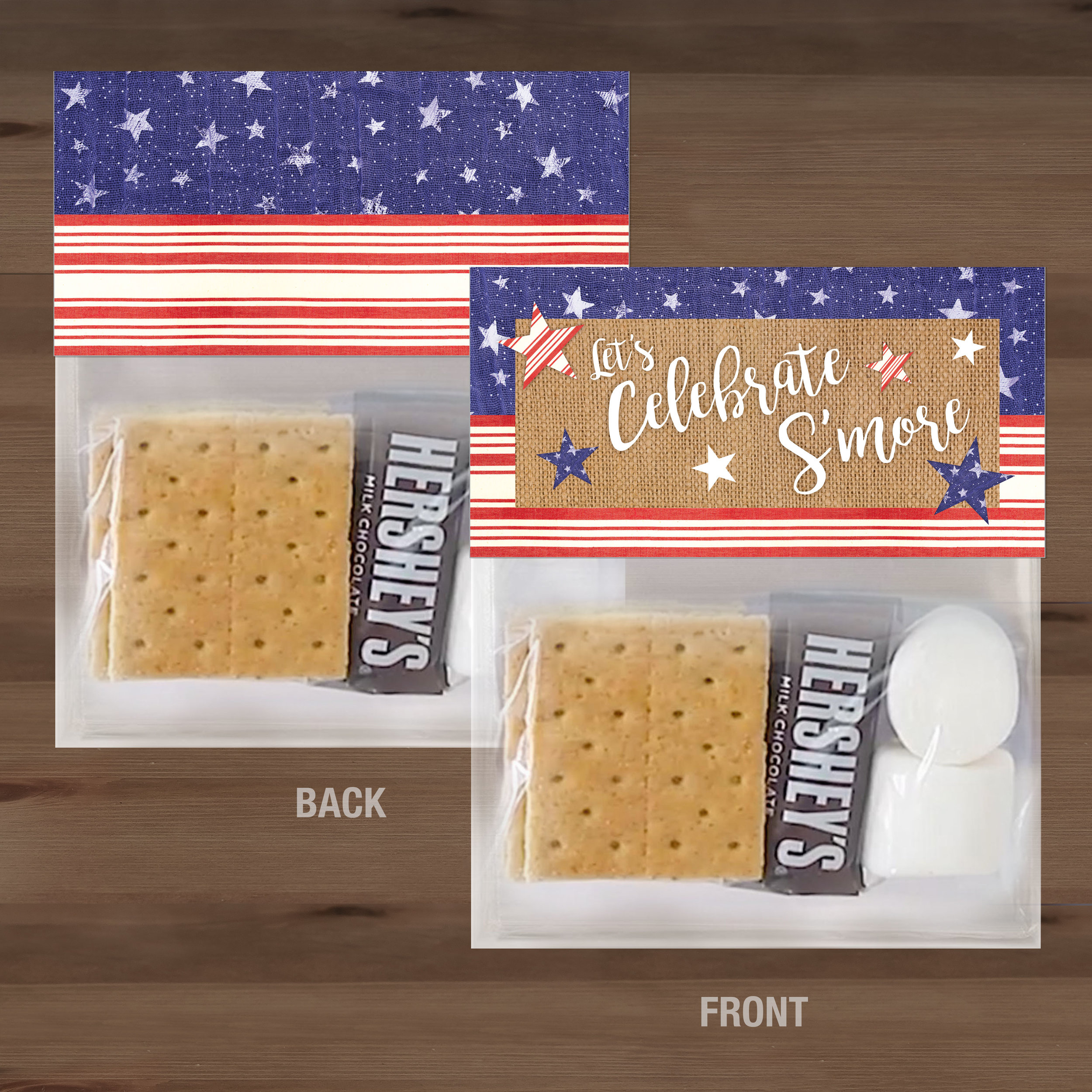 S'more Treat Bag Toppers