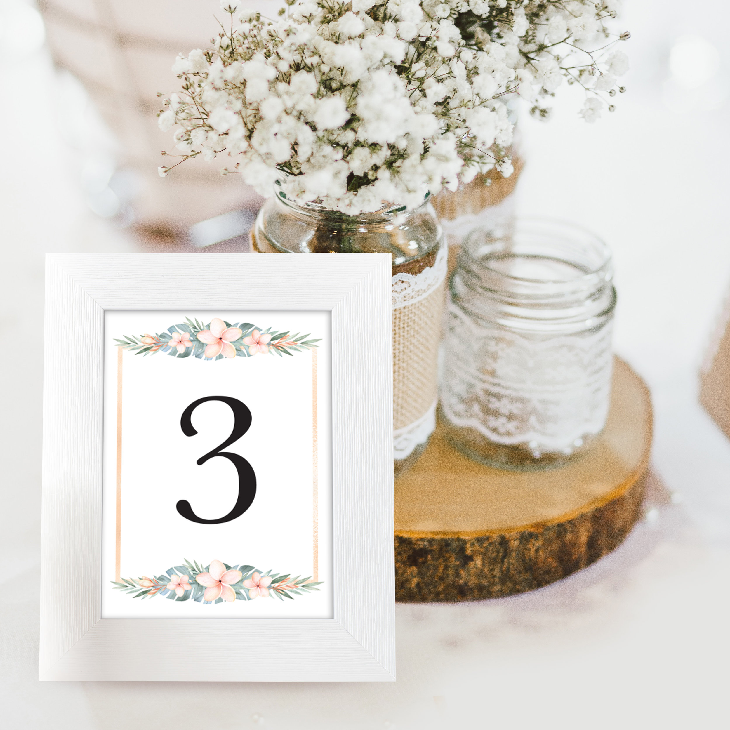 Table Numbers (5 x 7 and 4 x 6)