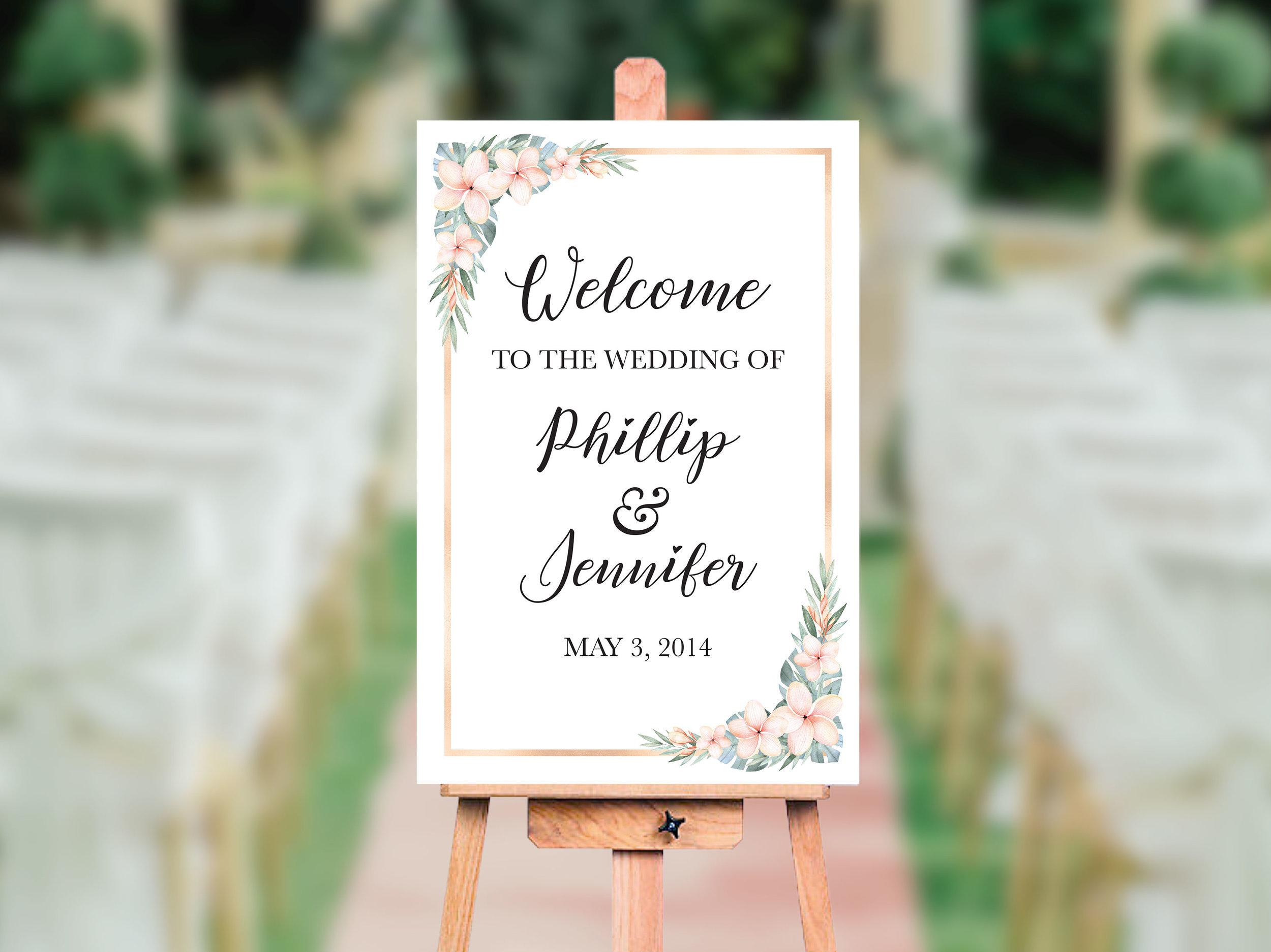 Wedding Welcome Sign (24 x 36)