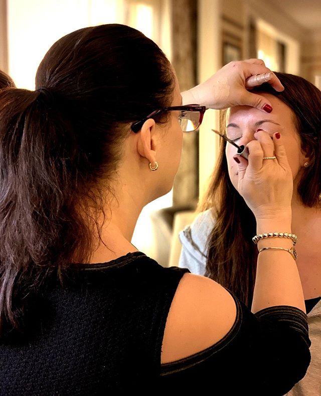 """""""Makeup is art. Beauty is spirit."""" . . . #makeup #beautynotes #mua #weddingmakeup #prommakeup #milfordsalon #beautysalon #ciaobellabeautybar #artistatwork"""