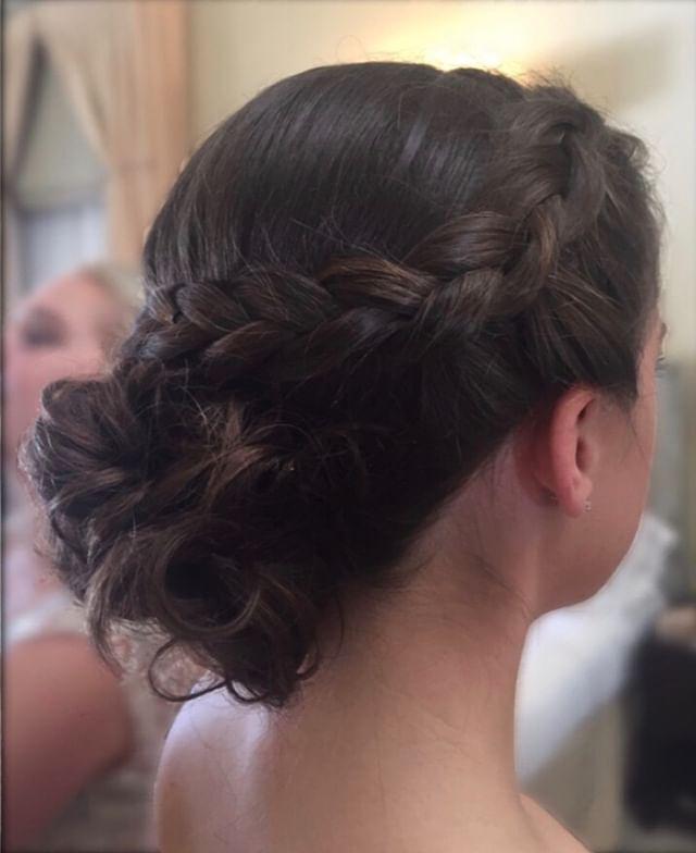 P R O M  Stylist: Laura P.  #promhair #promlook #prom #ciaobellabeautybar #beautysalon #milfordsalon #updo #partyhair #braid #braidedupdo