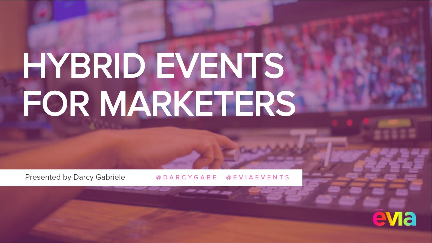 Darcy Gabriele discusses how to take your event to the next level using your digital event to build excitement, engage viewers and extend the reach of your event. Session recorded at MPI Cascadia 2019.