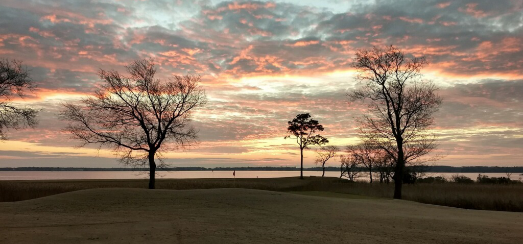 Beautiful winter Friday morning sunrise over the Nansemond River, the setting of our weekly club meeting.