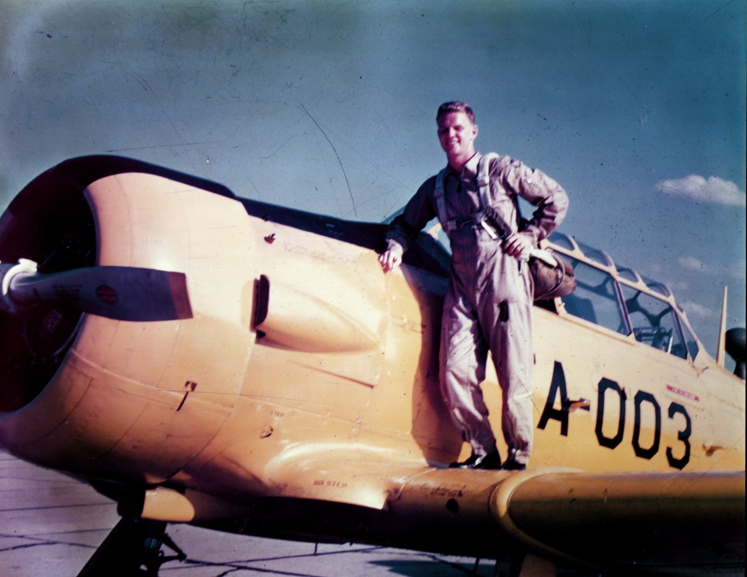 One of the many aircraft Ty had flown for the U.S. Air Force throughout his career.