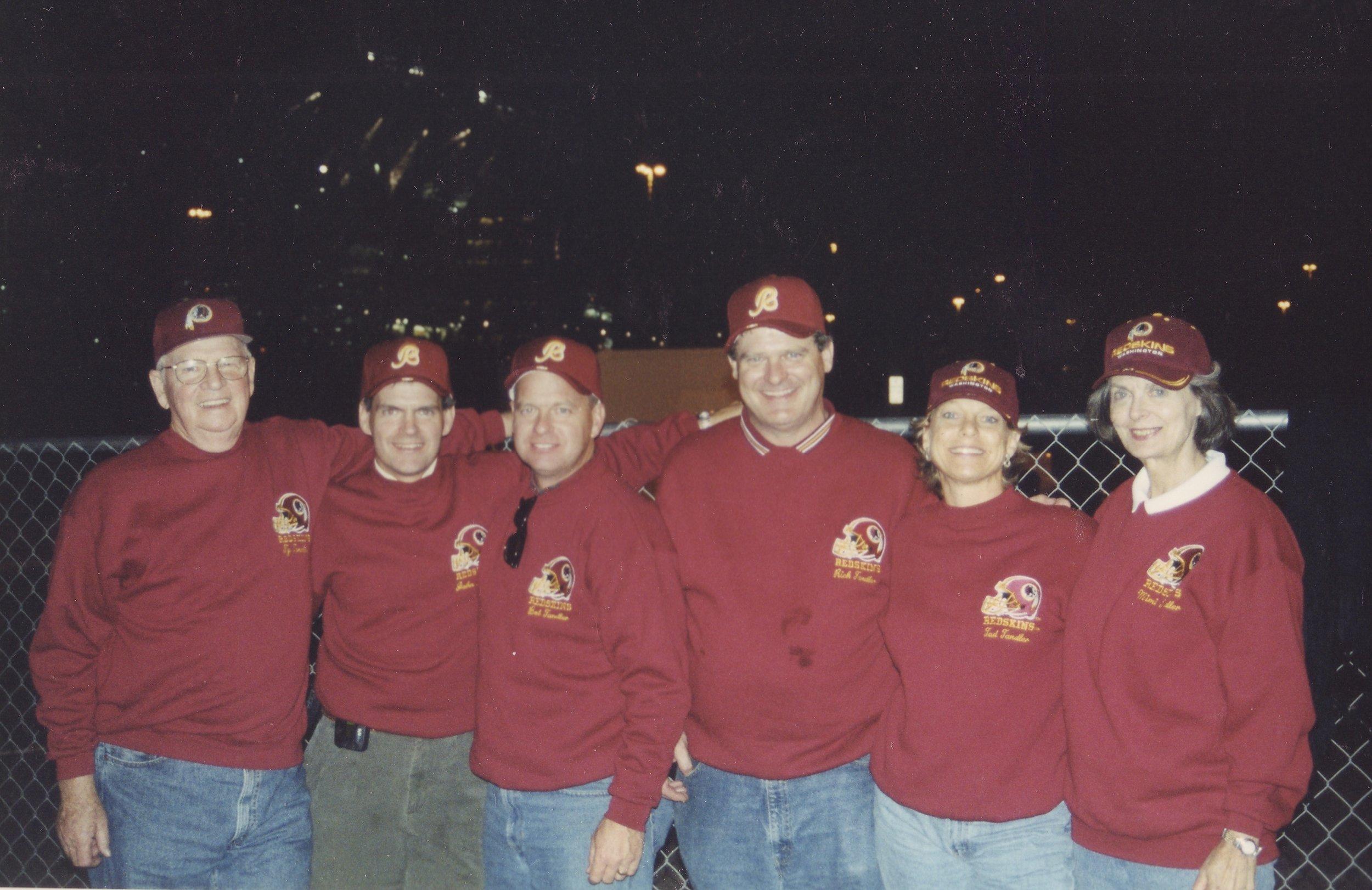 Redskins fans, Ty, John, Bob, Rich, Tad, and Mimi.
