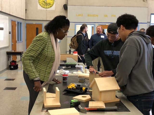 Ribbon Cutting Byrd Watcing Students Pic.jpg