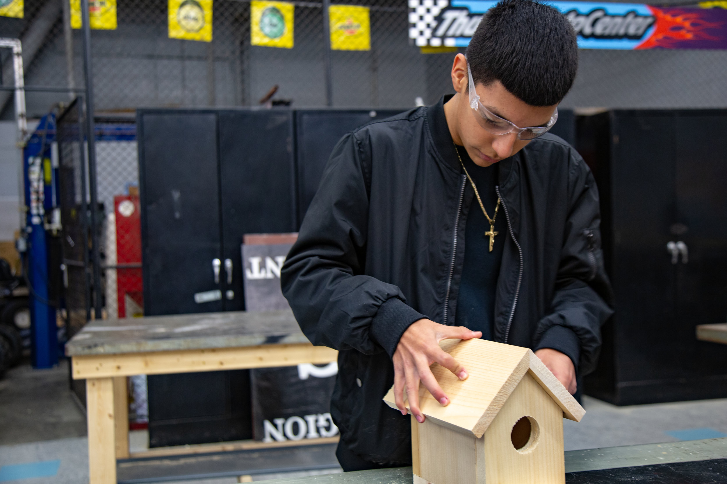 Ribbon Cutting Student Birdhouse Pic.jpg