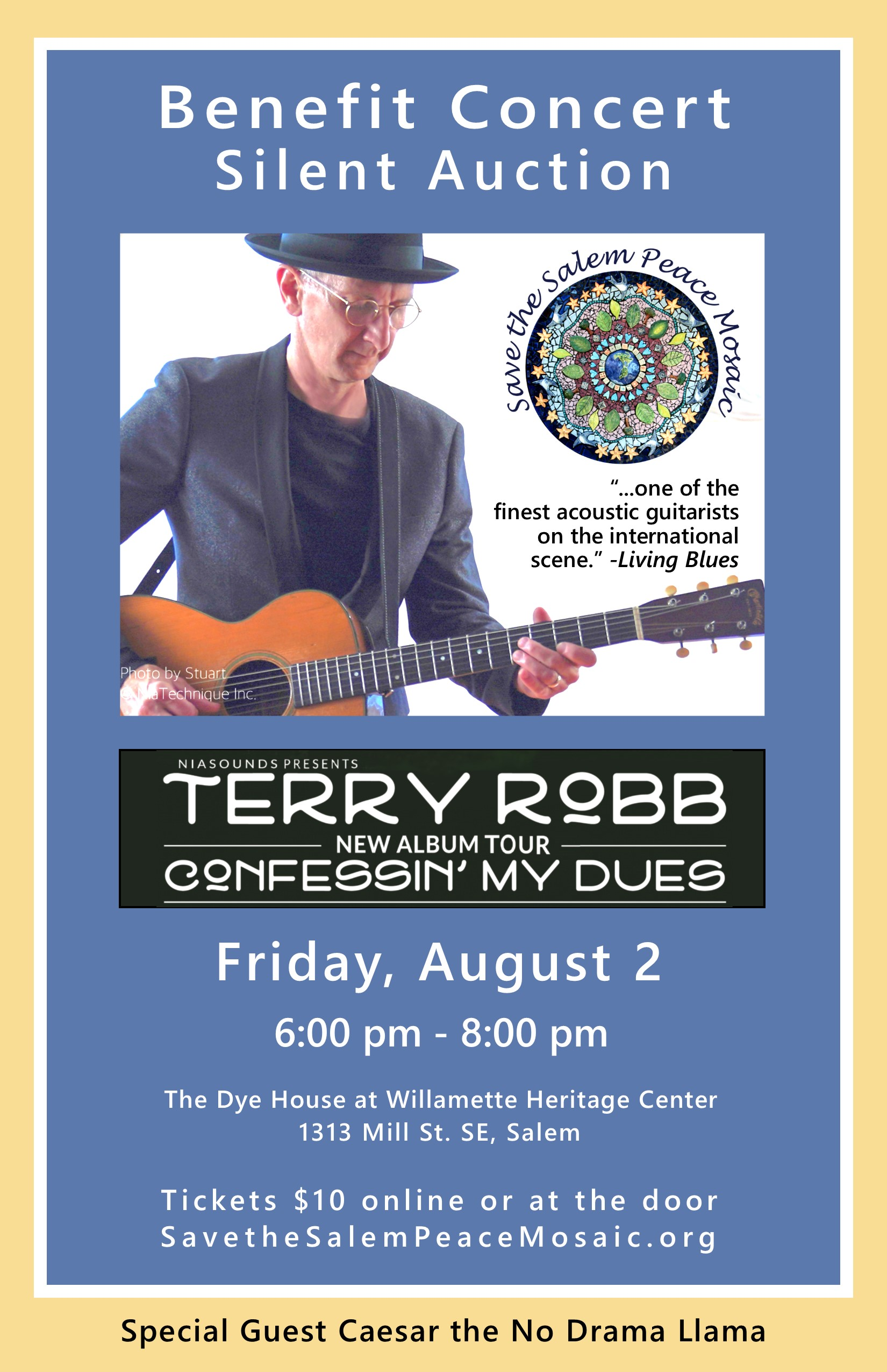 Benefit Concert Silent Auction with Terry Robb