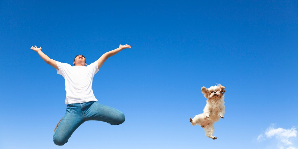 young-man-and-dog-jumping-in-the-sky-picture-id469008175.jpg