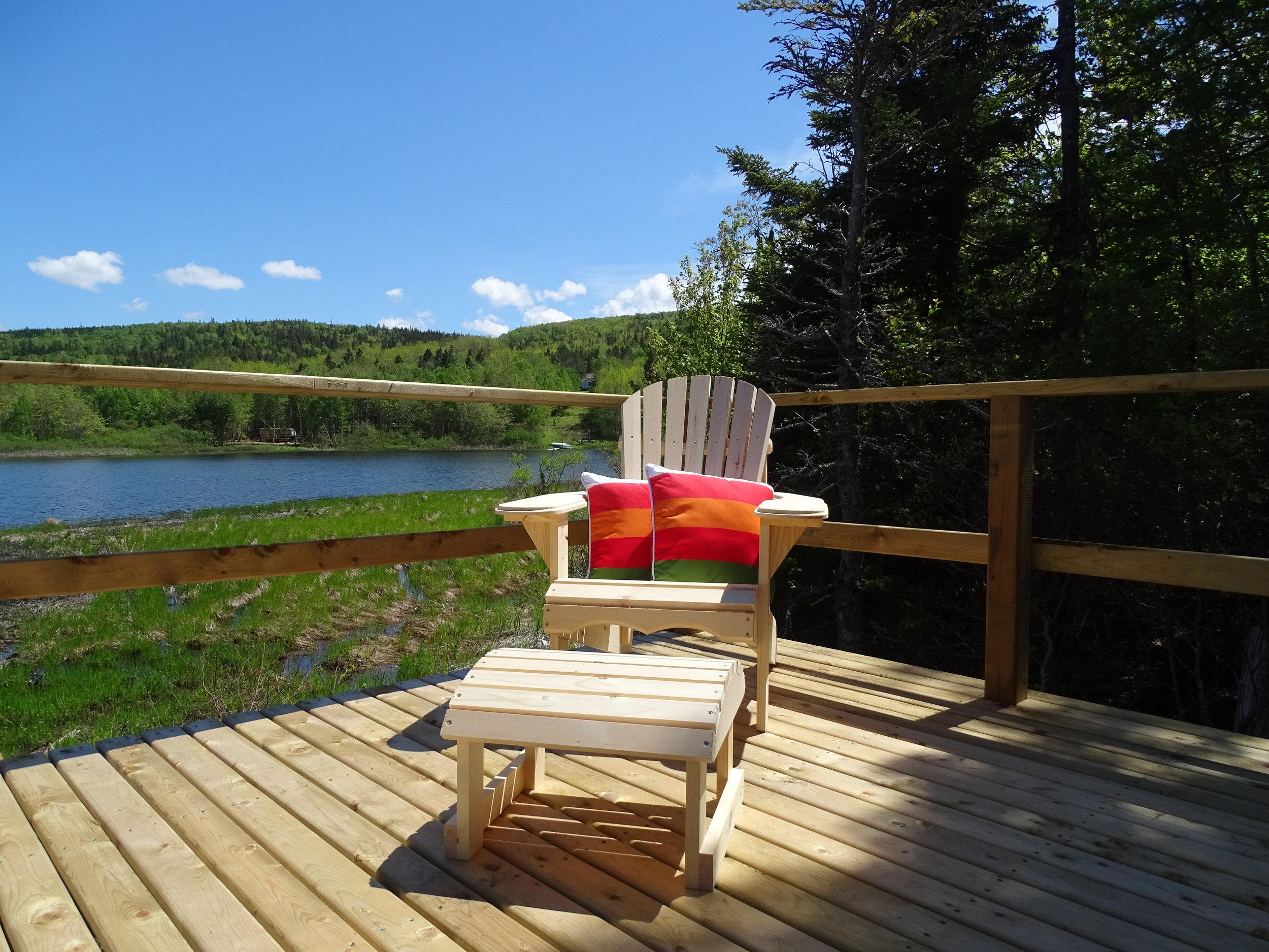 Muskoka chair and footstool? Check!