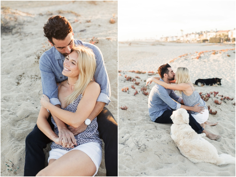 surprise proposal with the help of their dogs