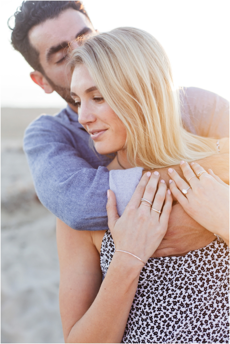 newly engaged couple on newport beach photo session