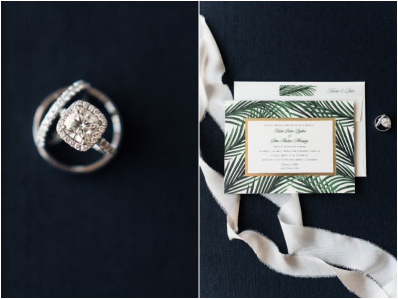 wedding bands and wedding invitation details photos
