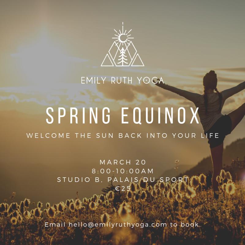 Spring Equinox | Emily Ruth Yoga | Morzine