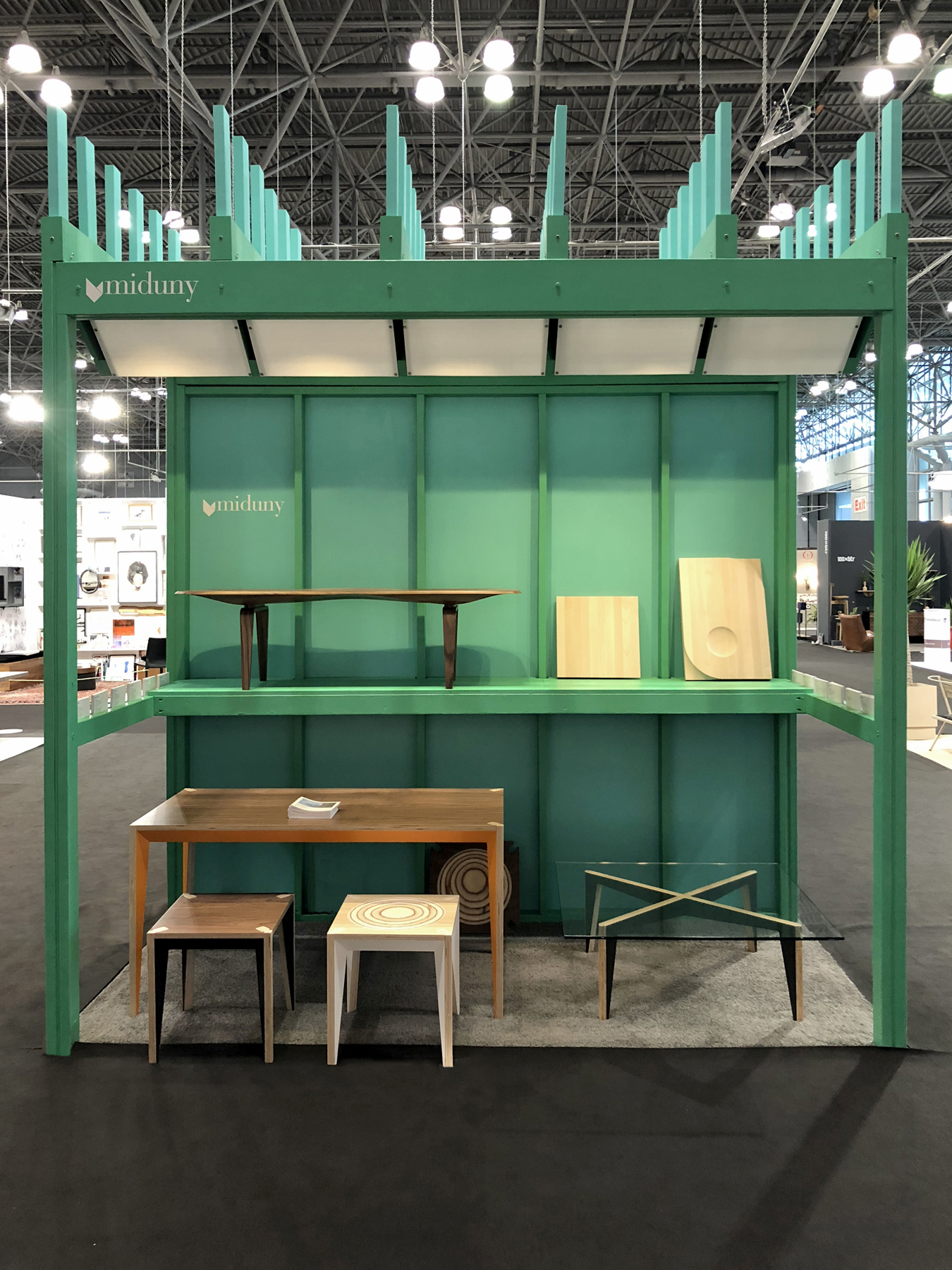Front view of the custom built booth.
