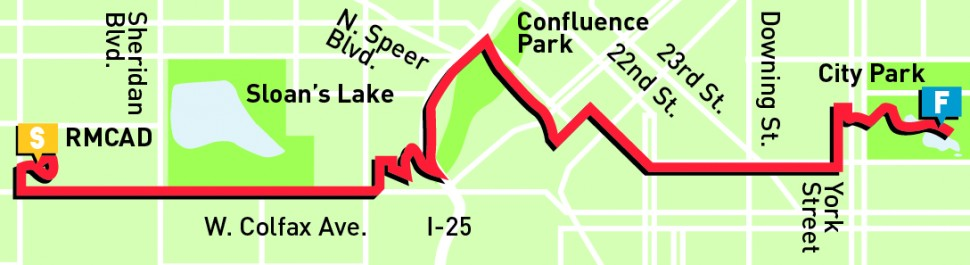 10 Mile - course map - 8:00 AM -9:30 AM - staggered start
