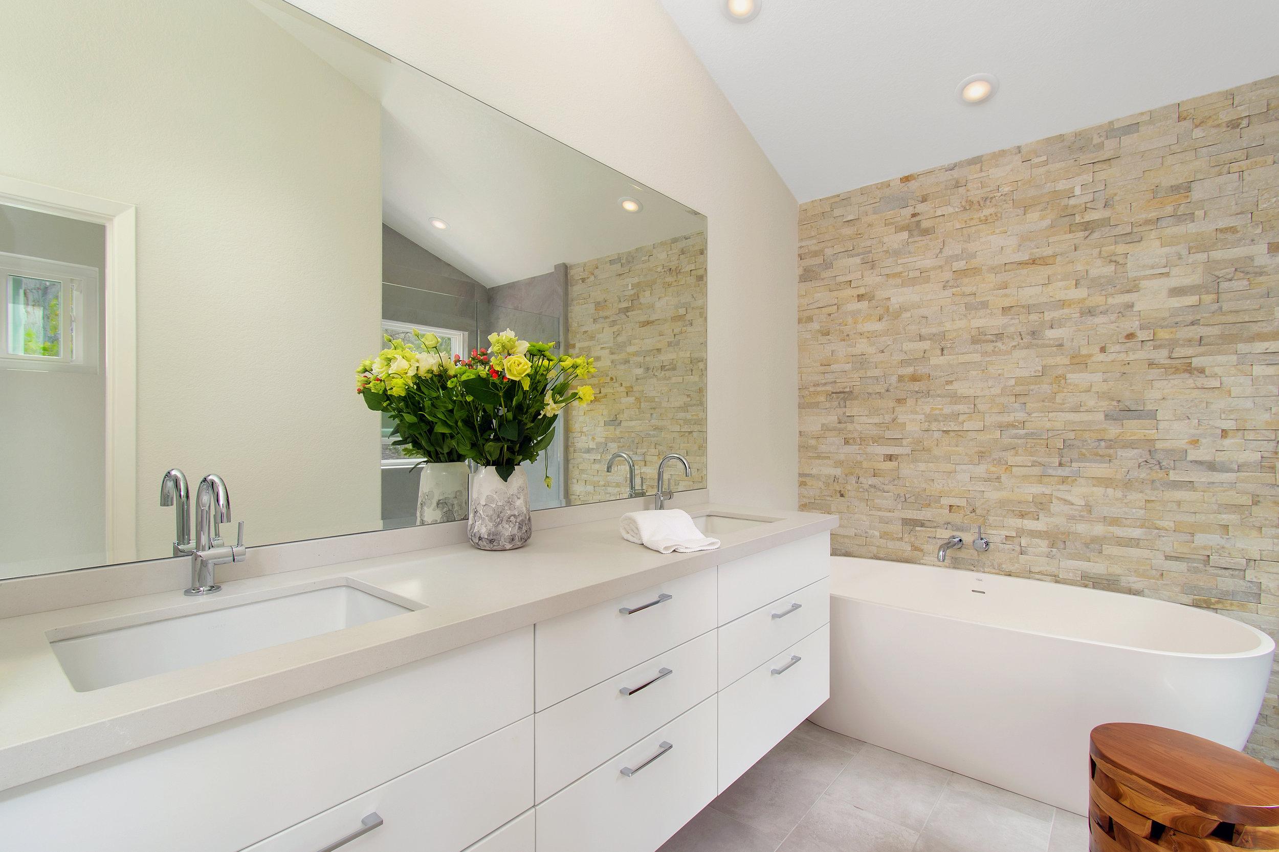 San Diego Minimalism Bath Remodel