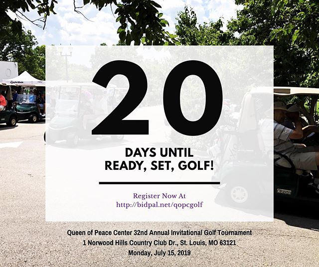 Only 20 days left to go before our 32nd Golf Tournament at the beautiful Norwood Hills Country Club! We have so many exciting things to share with you within just a few short weeks! Be on the lookout for sneak peeks on social media to player gifts, auction items, and more! Not registered yet? It's not too late! Find more details and get registered now at http://BidPal.net/Qopcgolf ⛳️🏌🏾‍♀️🏌🏻‍♂️#stlgolf #golftournament #golffundraiser #stlouisevents #golf #32ndannual #qopcgolf19 #charityevent #funinthesun #july #joinus
