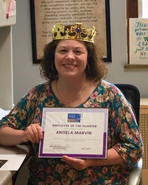 "Please help us congratulate our Employee of the Quarter— ANGELA MARVIN!  This year Angela transitioned to her role as Intake Counselor. In this role, Angela ""stays calm and focused on what the client needs in order to be enrolled in services.  Also, if they're not able to be enrolled, she does all she can to provide them resources they need to move forward. She's a great teammate and she's doing so great in this position!"" Angela likes working for QOPC as she ""truly feels that she is part of a team that strives to exemplify our values of hope, dignity, and respect."" She writes ""It can be very busy sometimes on the fourth floor, but I am blessed to have incredible coworkers, and I feel that we support each other well so that we can provide the very best treatment and care for our clients that we possibly can. I love working with women in recovery and it's a joy every day that I am here to see their resilience, strength, and optimism as they start building happy and healthy lives for themselves and their families."" #employeeappreciation #qopcstl #employeespotlight #stl #nonprofit #hope #dignity #respect"