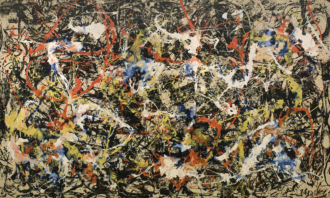 The famous painting  Convergence  (1952) by Jackson Pollock.