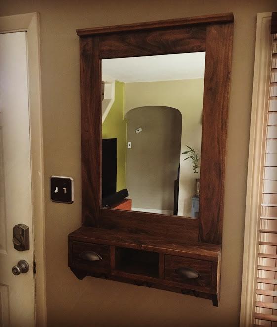 Entryway Storage Mirror