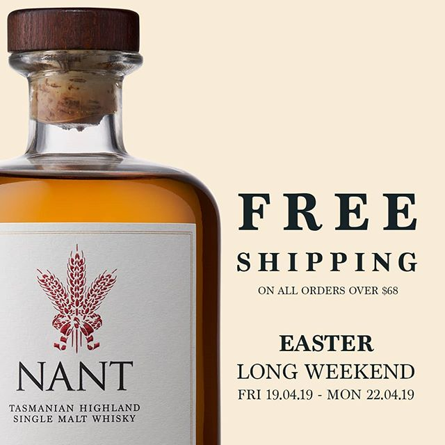 Enjoy Free Shipping on all orders over $68 within Australia this Easter Long Weekend. Visit www.nant.com.au and enter code: Easter19.  #singlemalt #whisky #craftdistilling