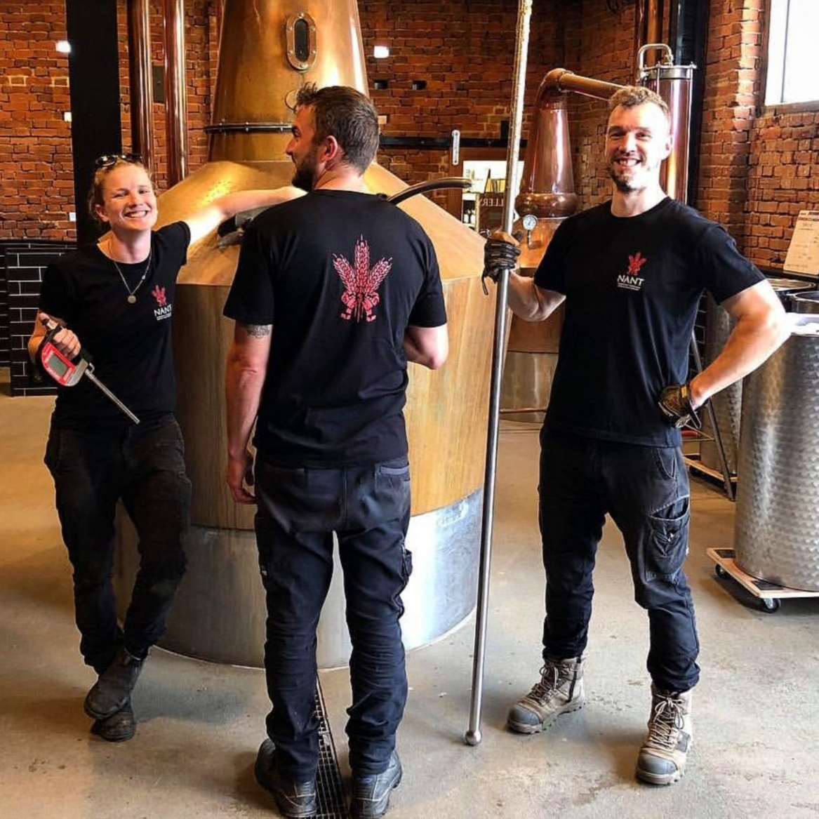 Left to right: Distillers Bec Walsh, Jack Sellers, Scott Smith
