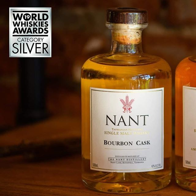 Meet the Nant ex Bourbon cask that was awarded Silver at this year's World Whiskies Awards!  #singlemalt #whisky #tasmania