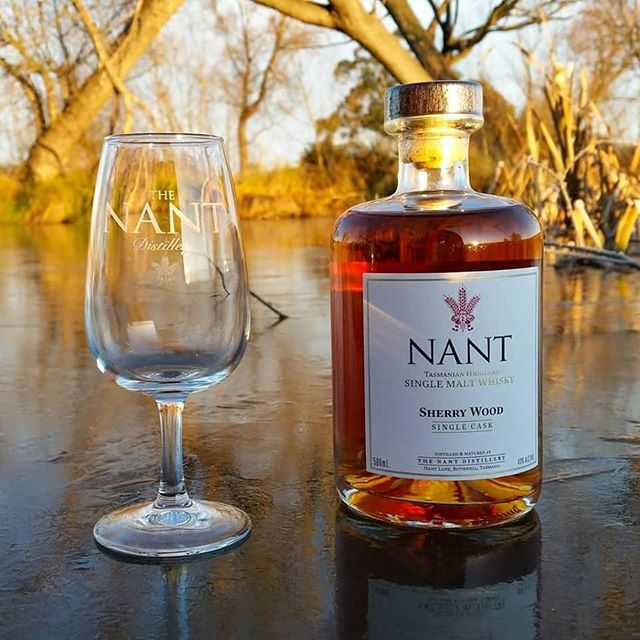 Winter feels better with a bottle of Nant Tasmanian Highland  Single Malt Whisky.  Photograph beautifully captured by Blair Whitehead.  #singlemalt #highlands #Tasmania