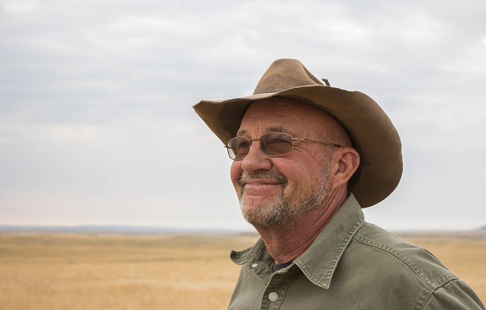Third-generation rancher Steve Charter at his home in Shepherd, Montana.