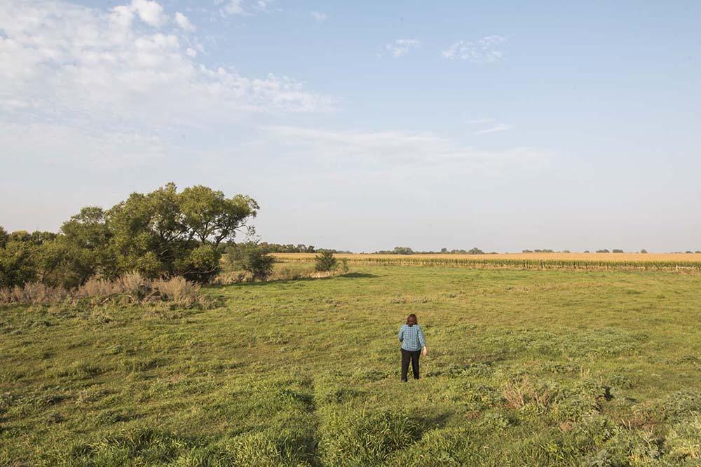 Kristi at her home in Revillo, South Dakota.