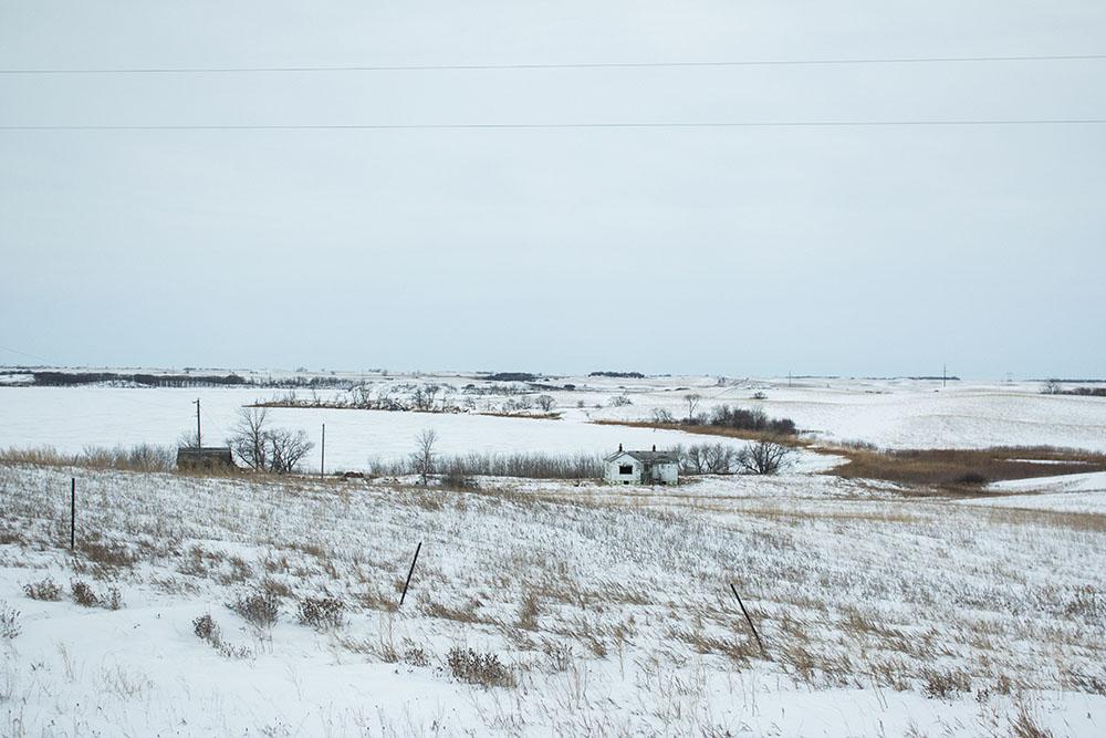 Doug's childhood home. Spirit Lake Nation, North Dakota.