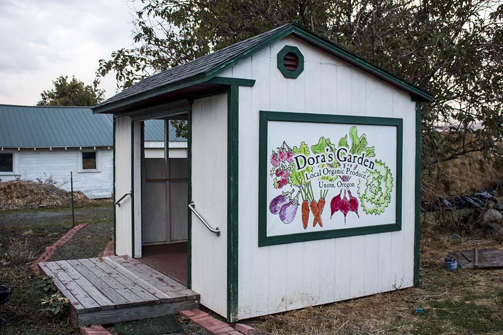 Dora's Garden farm stand in Union, Oregon.