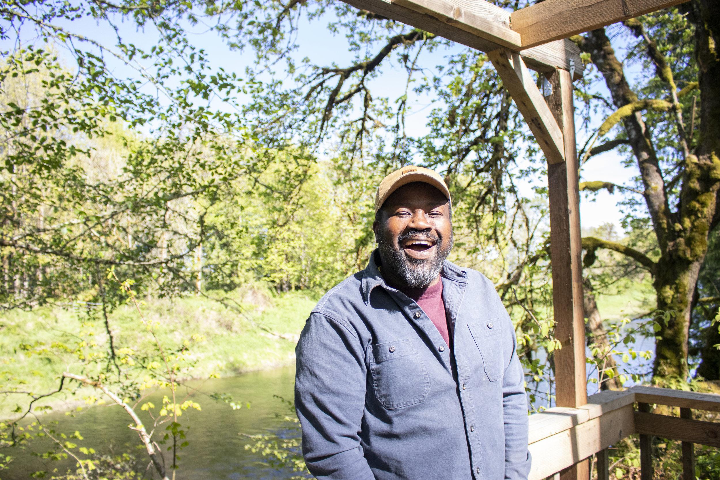 Farmer Rohn Amegatcher runs Log Hollow Farms in Chehalis, Washington.