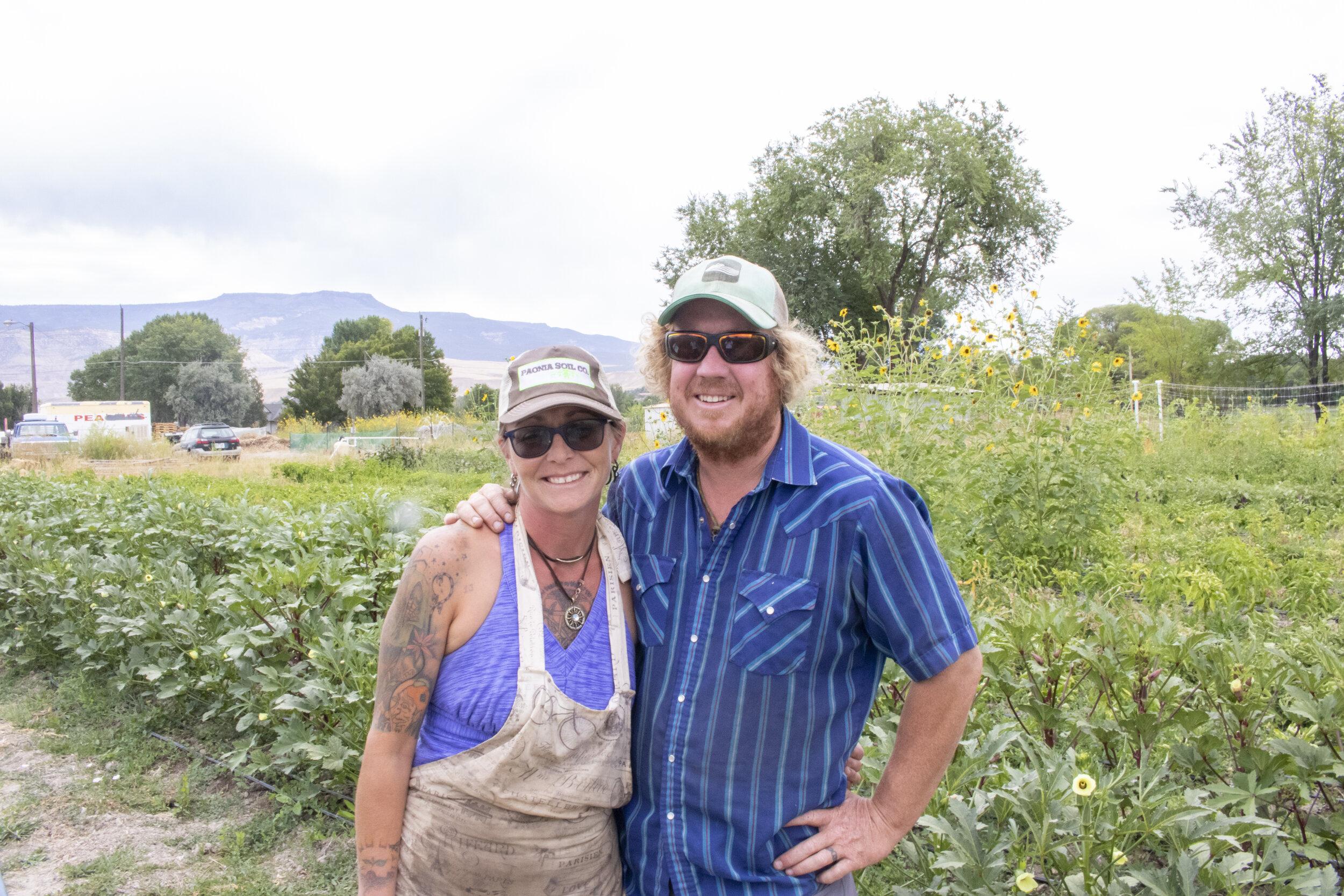 Dawn Trujillo and Brian Adams run Green Junction Farmstead in Clifton, Colorado.