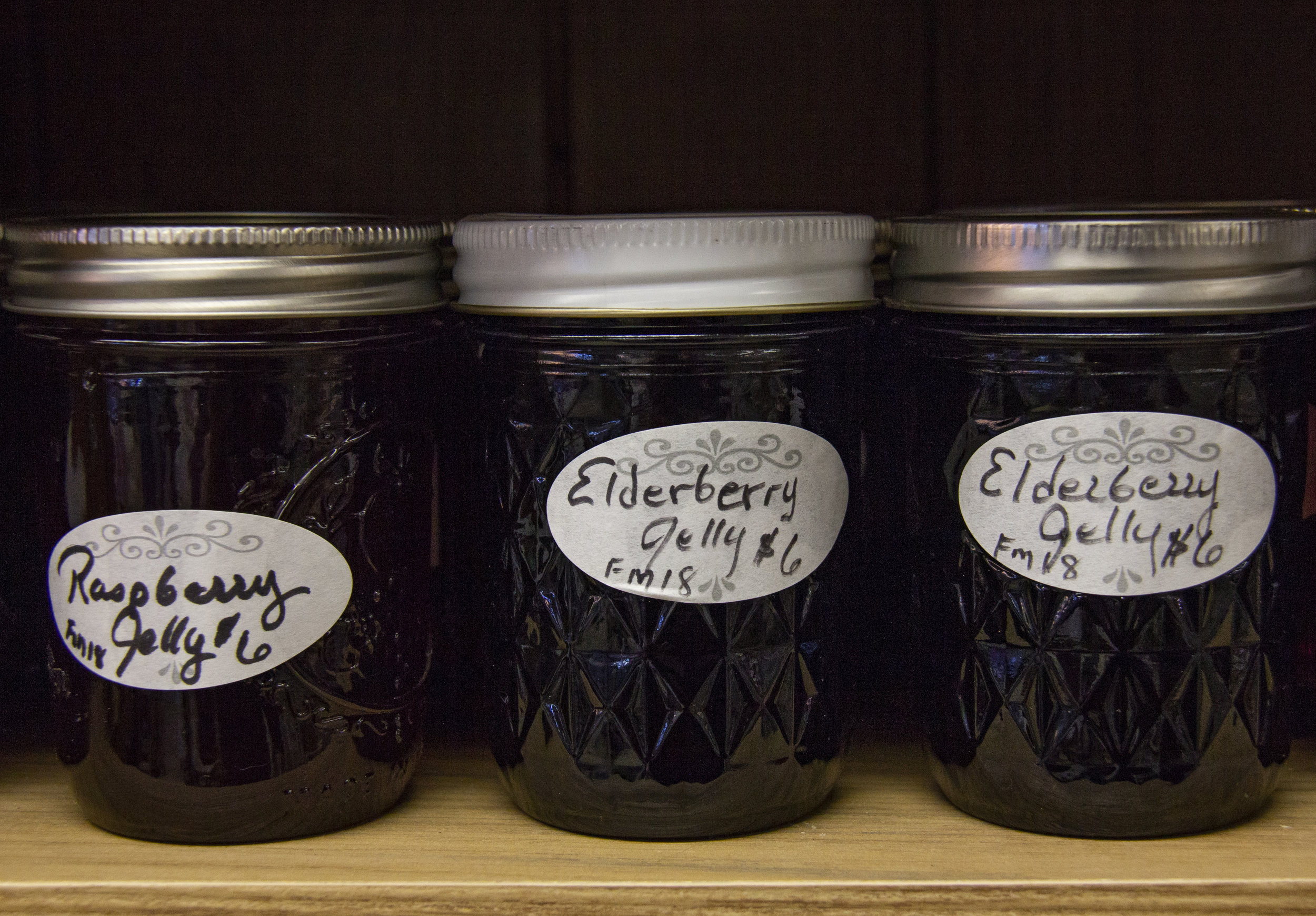 Raspberry and elderberry jelly available at the Downtown Gillette Farmers' Market, a cooperatively owned market in Gillette.