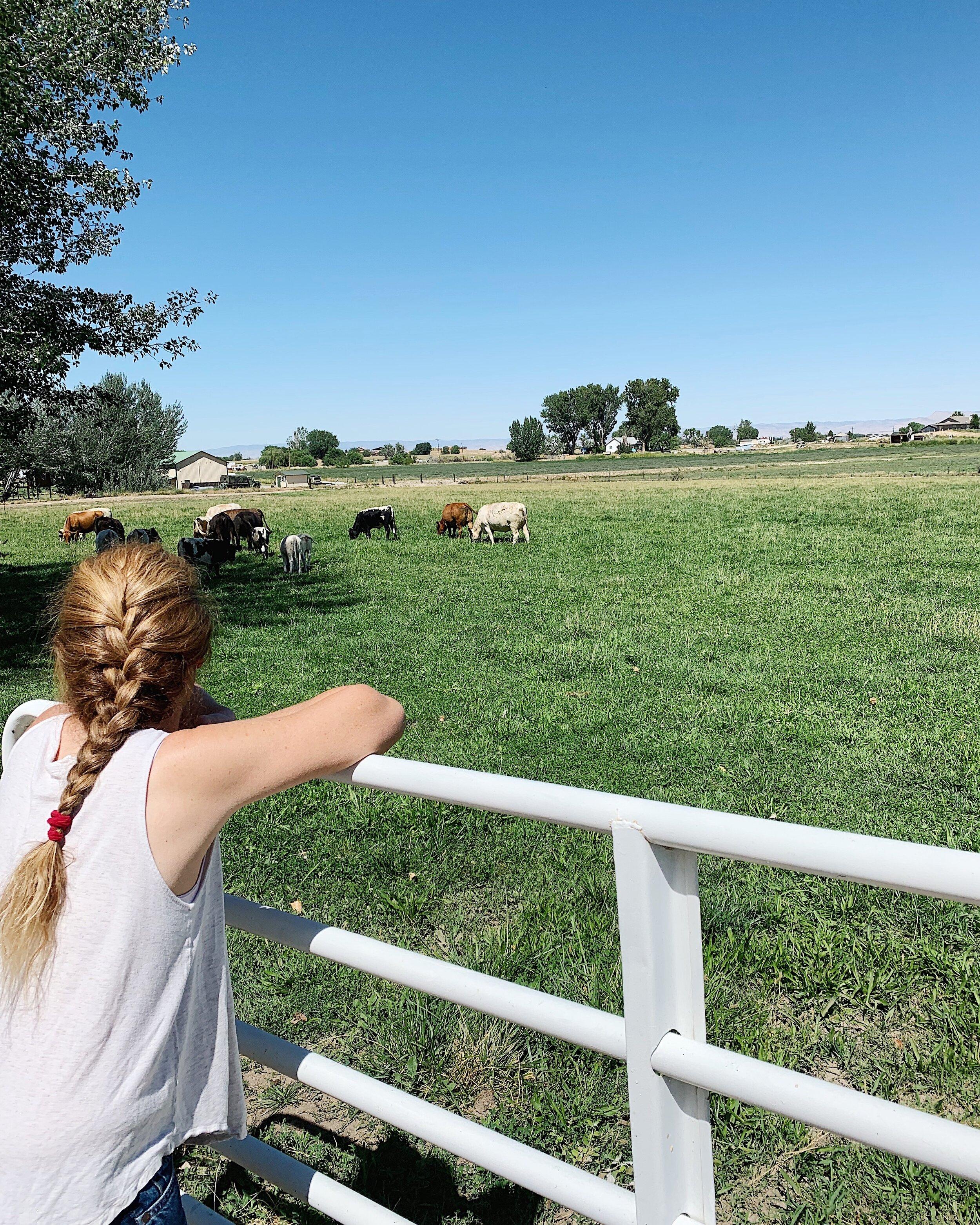 Kathryn at Roan Creek Ranch in Fruita, Colorado.