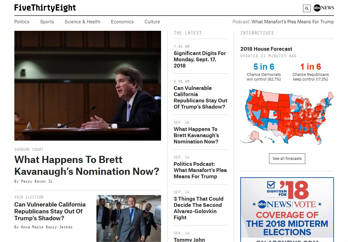 FiveThirtyEight  Nate Silver's FiveThirtyEight uses statistical analysis  hard numbers  to tell compelling stories about politics.jpg