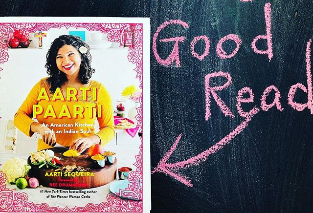"""It's one part cookbook and one part memoir (with lots of humor). Food Network Star Aarti Sequeira's """"Aarti Paarti: An American Kitchen with an Indian Soul"""" is probably one of my fav cookbooks...the grease stained pages prove it. Just made her mango pulled pork sandwich this week. Crazy good. Love the blending of cultures through food! #foodstories @aartipaartipics"""