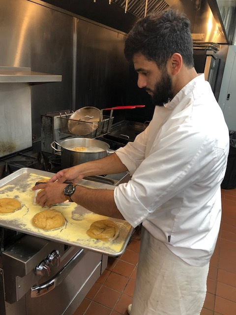 Chef Hector making bagels at Project 658.