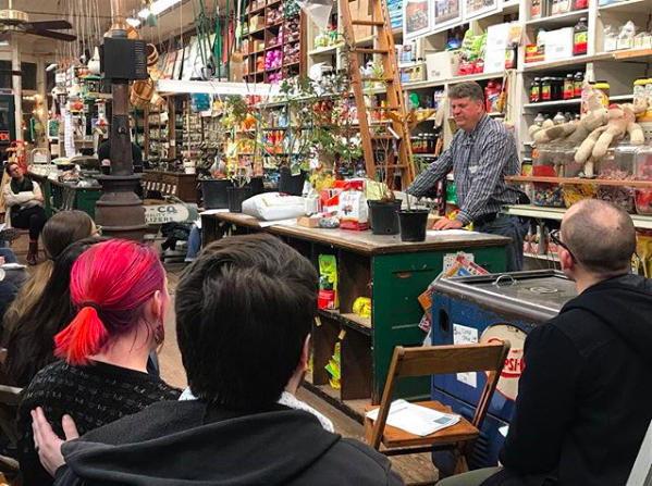 owner david blackley offering classes inside of the Renfrow hardware store