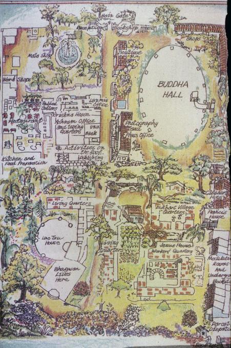 Map of Poona Ashram, University of Oregon - Oregon Digital