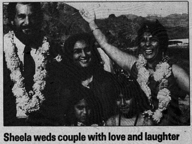 KD weds Aruna Bharti, September 1982, Rajneeshpuram Times