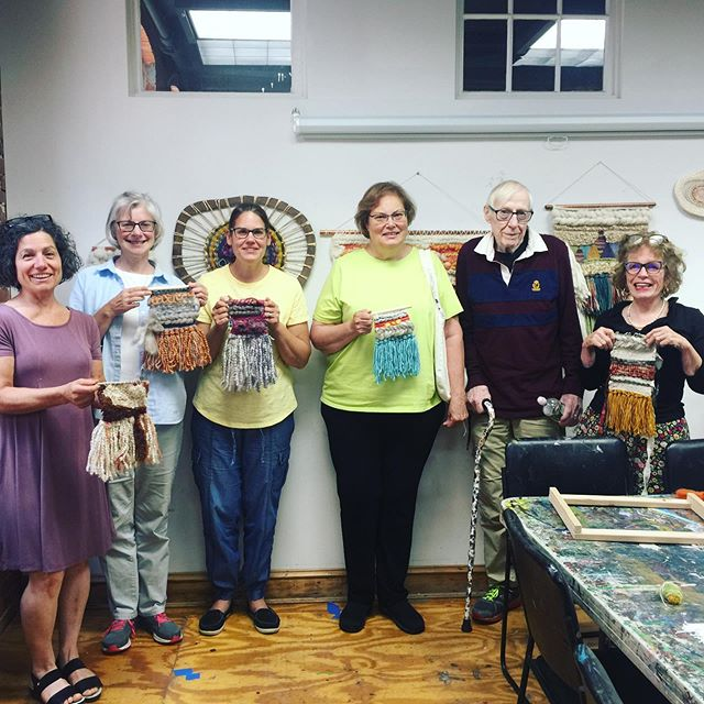 Creative, relaxing and fun morning spent with this crew of aspiring weavers! Were you one of the folks sitting on the waitlist? Be on the lookout for two adult workshops and one 4 week mini series coming up the Fall. These workshops fill up quickly so grab your spot if you'd like to join us! Register at www.essexartcenter.org