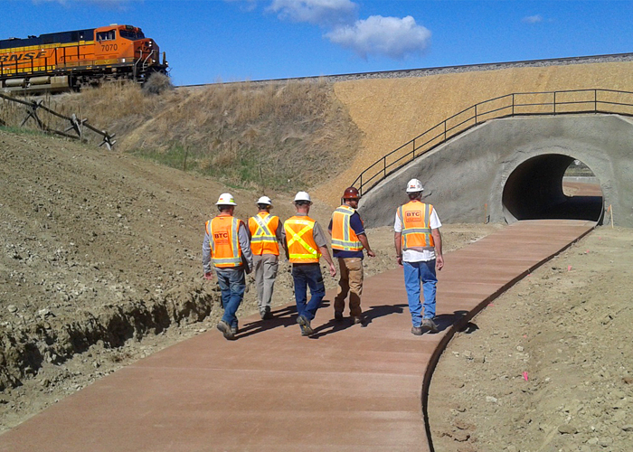 Fossil Creek PeD tunnel - Design engineering and full time construction observation for a City of Fort Collins project expanding the Fossil Creek Trail system with a pedestrian tunnel underneath the BNSF railroad.