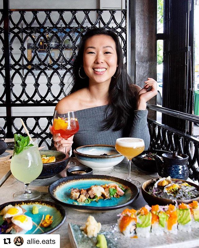 It's Friday, it's time to feast! @allie.eats knows how to feast! Sushi, Hokkaido scallop tiradito, wagyu nigiri, craft cocktails, so many options to choose from! The feast begins at 4pm and 10:30am on the weekends. 🍗🍣🍹🍻 #KaiyoSF #JapanesePeruvian  #Dinner #nikkei #sushi #SF  #eeeeeats #SFRestaurants #sfbayarea #bonappetit #BayAreaEats #GoodFood #SFGuide #instafood #foodporn #goodeats #foodgasm #foodbeast #sfeats #feast #foodie #bestfoodsf #uni #yum #nomnom #foodiesofinstagram #foodgram #f52grams #feast