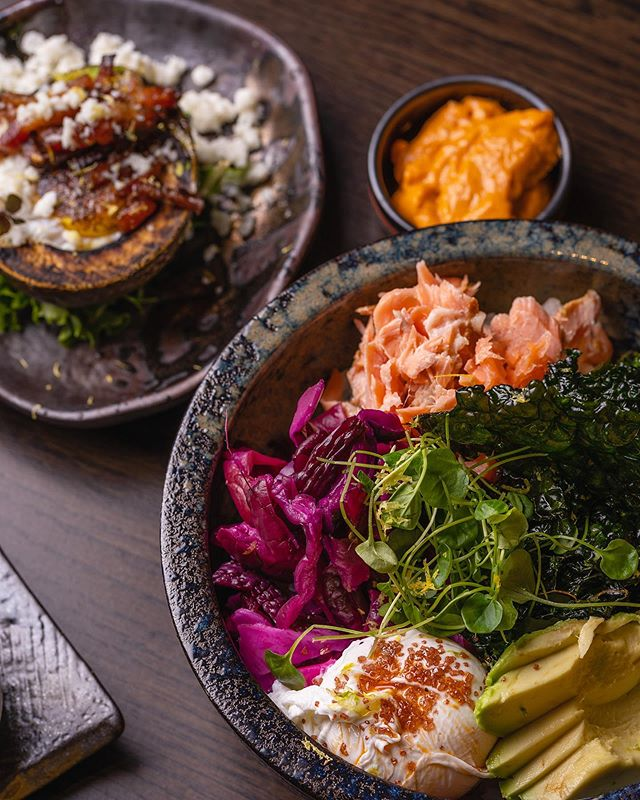 It's only Thursday, but it's time to start thinking about weekend brunch! Our smoked trout and vegetable rice bowl is perfect after soulcycle, a bootcamp class, or if you're just plain hungry. Brunch begins at 10:30am.  #kaiyosf #kaiyobrunch #nikkei #ricebowl #poachedeggs #sfbrunch #f52grams #foodiesofinstagram #brunch #sfchronicle #sfweekly #feast #eeeeeats #peruviannikkei #cocktails #foodporn #foodie #sanfrancisco #sffoodie #smokedtrout #bonappetit