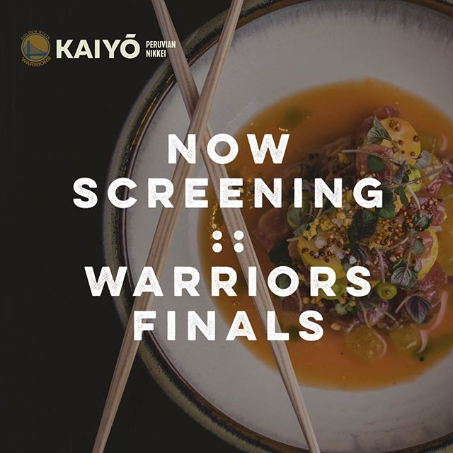 We've got a bench for you to warm that's in dangerous proximity to a fine collection of pisco. Word on the street is there's #strengthinnumbers, so grab some buddies and post-up @kaiyosf to watch The Dubs while you get down on some Nikkei grub 🥢🍣🥃🙌🏼