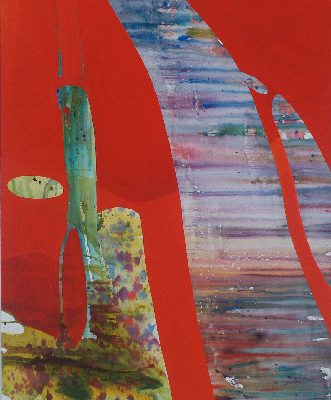 Red Tide , watermedia on Canvas, 2014