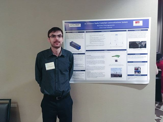 Nicholas' poster snagged 1st place at IEEE student poster competition! 🚀⭐️ #proud #SFUSAT